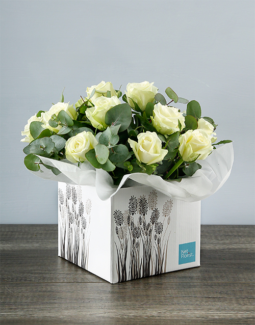 colour: White Roses in Crafty Occasion Box!