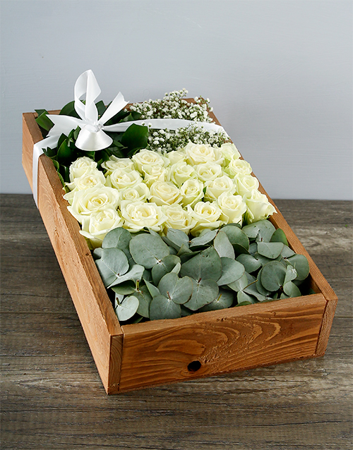 wooden-crates: White Rose Deluxe Crate!