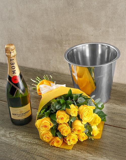colour: Moet & Chandon Yellow Rose Surprise!