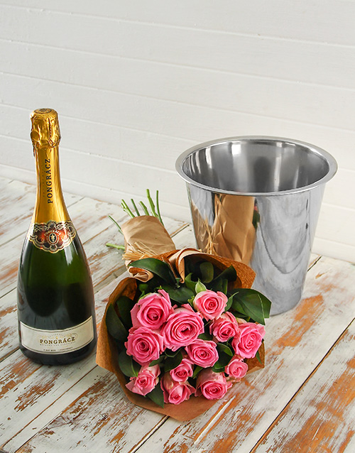 colour: Pink Rose Bouquet, Progracz and Ice Bucket!