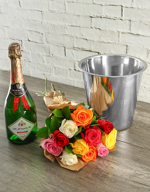 roses: Mixed Roses, JC Le Roux and Ice Bucket!