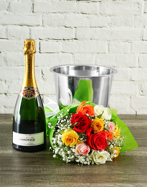 bouquets: Million Star Roses, Pongracz and Ice Bucket!