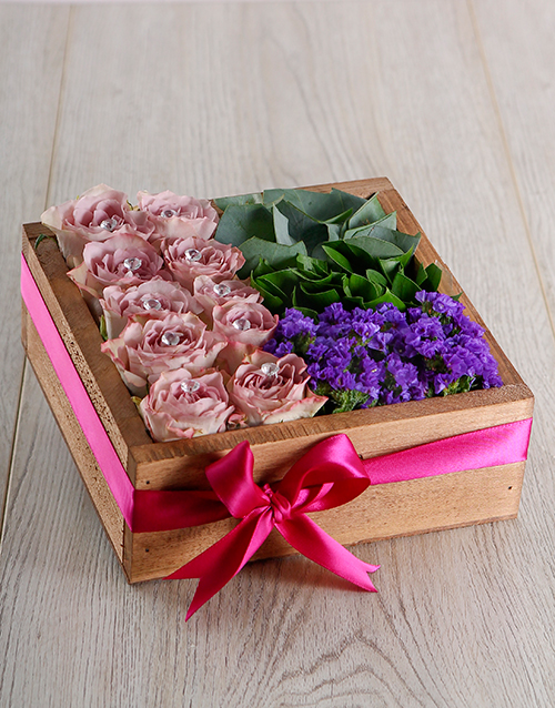 wooden-crates: Lilac Rose Crate!