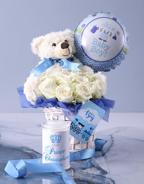 flowers: Baby Boy Fantasy Basket!