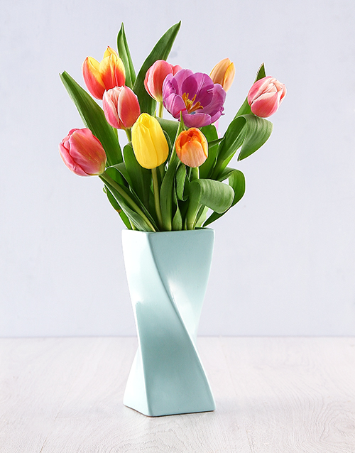 tulips: Tulips in a Twisty Vase!