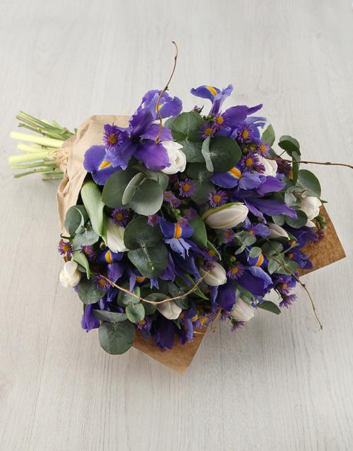 colour: Blooming Beautiful Iris Bouquet!
