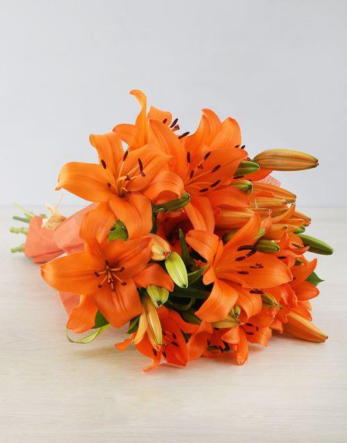 bouquets: Orange Asiflorum Lily Bouquet!