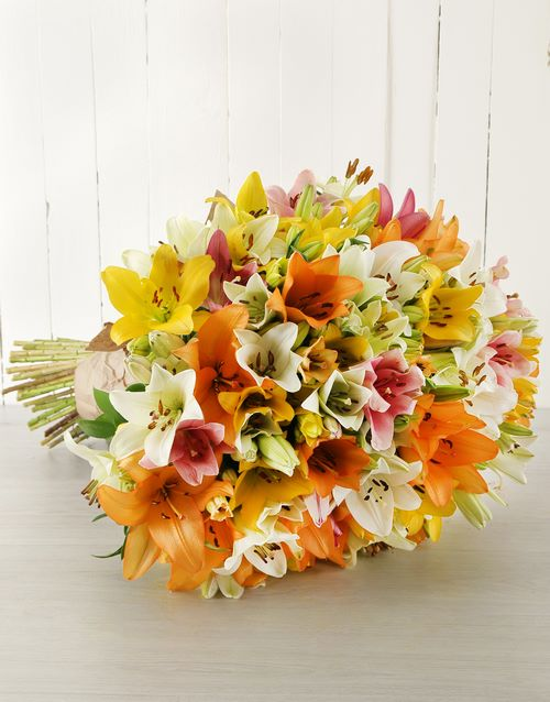 colour: Mixed Asiflorum Lily Supreme Bouquet!