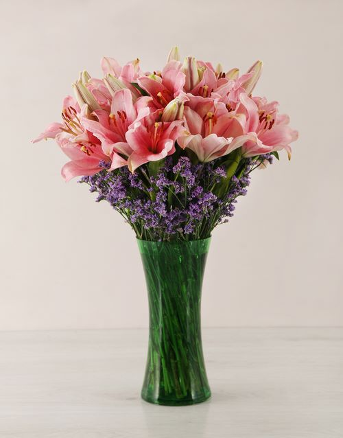 coloured-vases: Pink Asiflorum Lily Vase!
