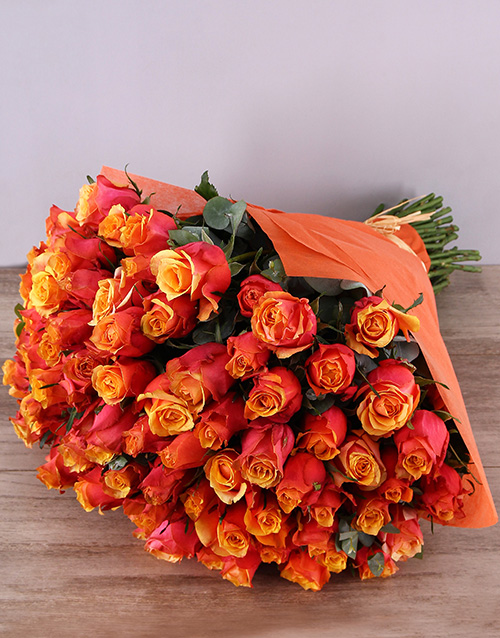 speciality: Cherry Brandy Roses In Orange Wrapping!