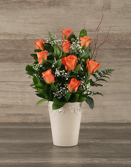 house-warming: Orange Rose Pot!