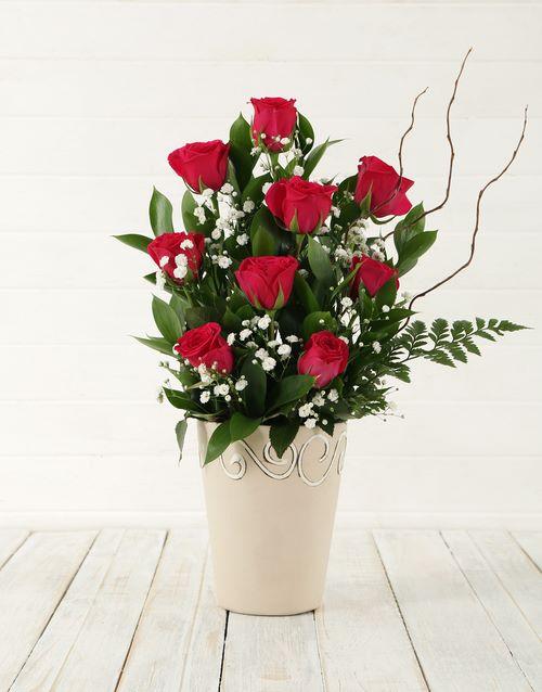 house-warming: Cerise Rose Pot!