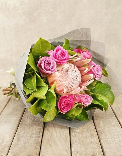 bouquets: Captivating Protea and Rose Bouquet!