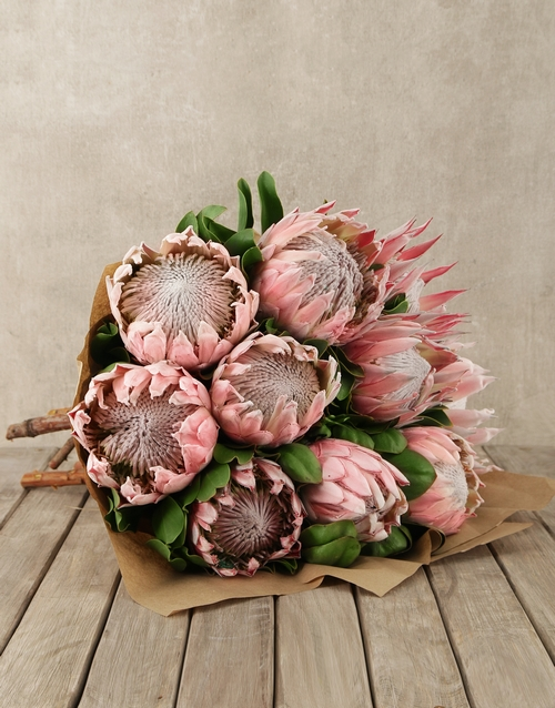 seasonal: King Protea Bouquet!