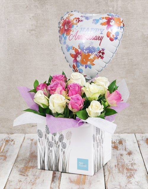 colour: Anniversary Watercolour  Rose and Balloon Box!