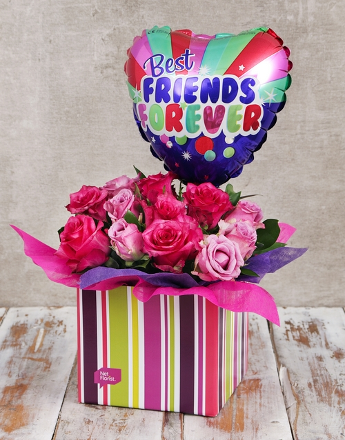 in-a-box: Best Friends Balloon and Rose Box!