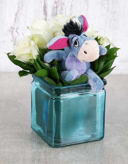 teddy-bears: Eeyore Rose Vase!