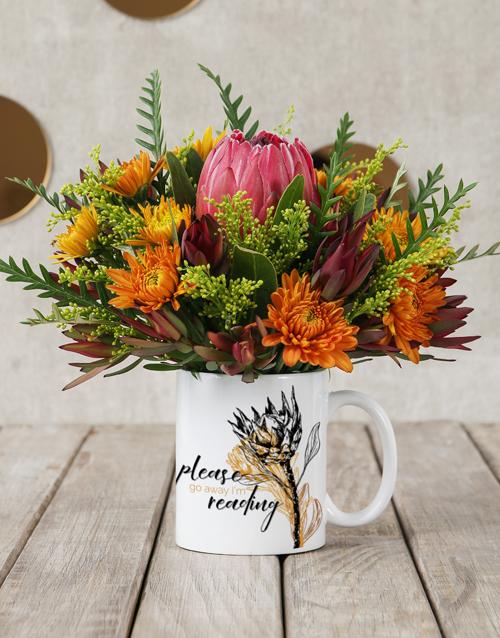 mugs: Im Reading Protea Mug Arrangement!