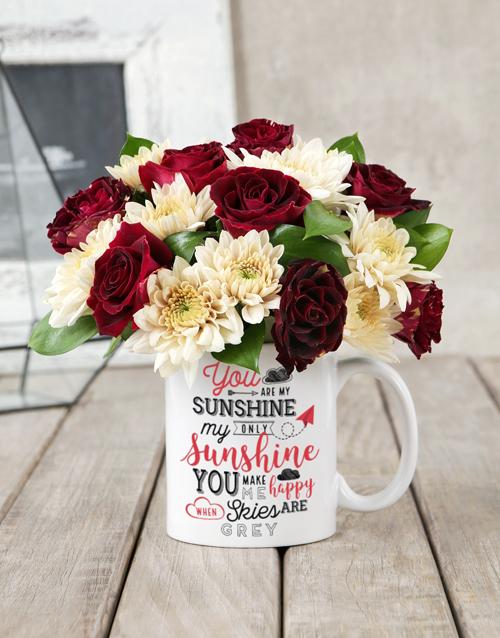 anniversary: My Sunshine Rose Mug Arrangement!