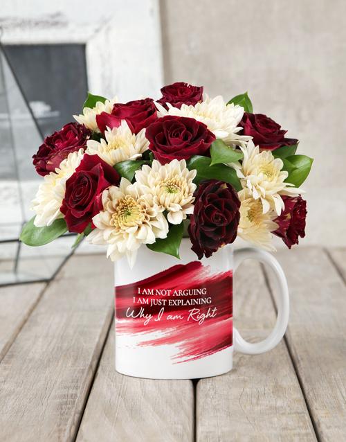 apology: I am Right Rose Mug Arrangement!
