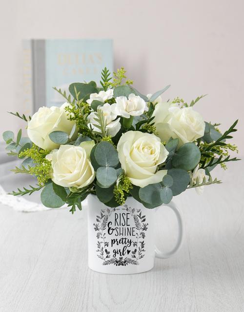 mugs: Pretty Girl Mug Arrangement!