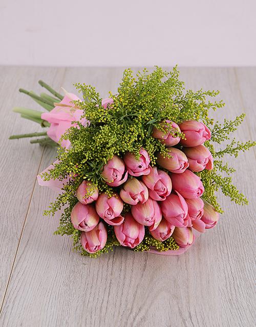 tulips: Pink Tulips Bouquet!