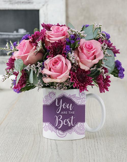 colour: You Are The Best Rose Mug Arrangement!