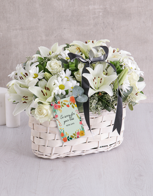 colour: White Sympathy Basket!