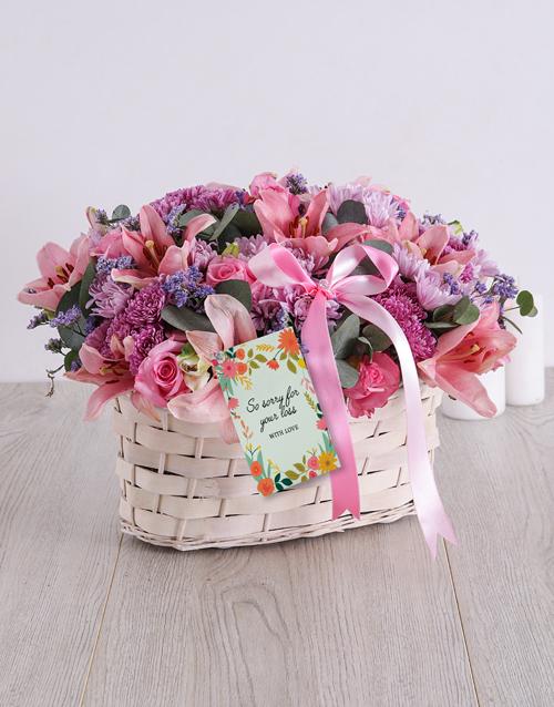 basket: Pink and Purple Sympathy Basket!