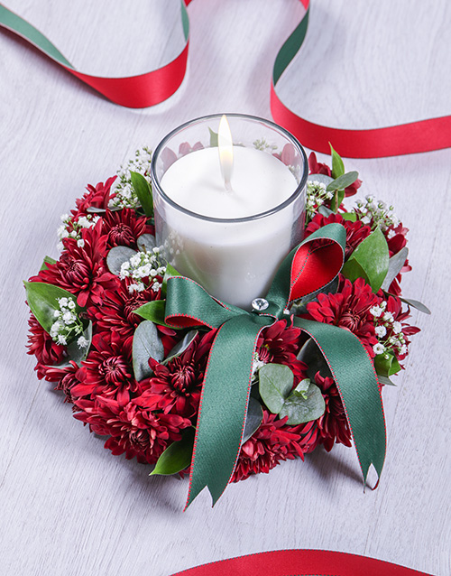 colour: Red Spray Sympathy Candle!
