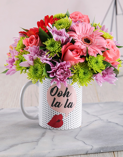 colour: Ooh La La Mug Arrangement!