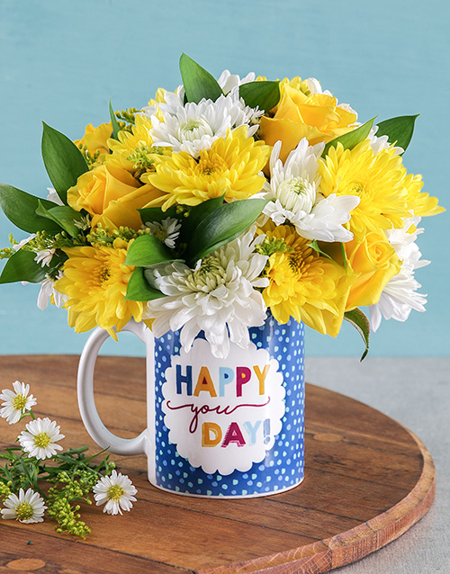 flowers: Happy You Day Flower Mug!
