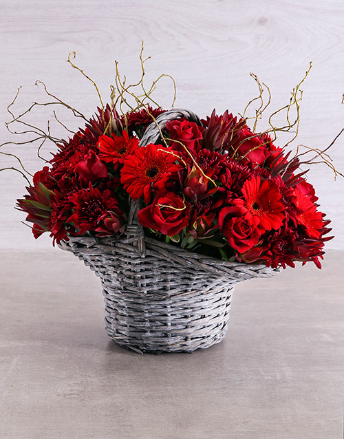 colour: Dripping in Red Basket!