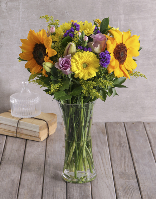 spring-day: Bright Sunflower Vase!