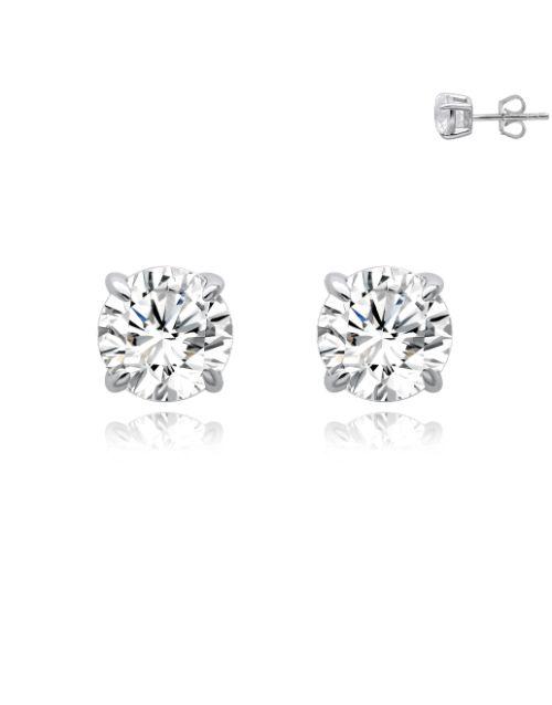 earrings: Silver 6mm Round Claw Earrings!