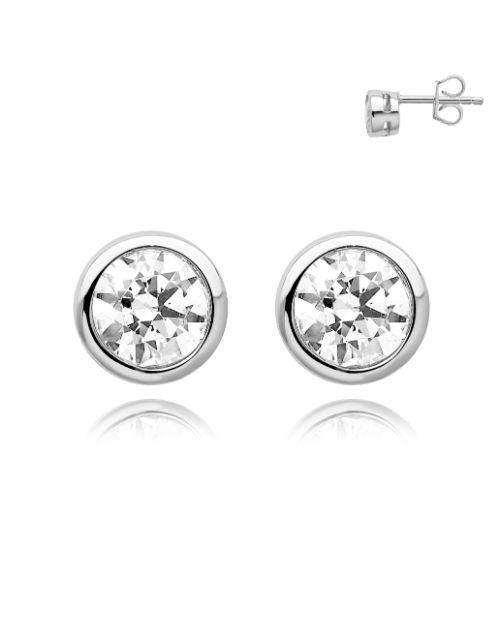 earrings: Silver 925 Tube Cubic Stud Earrings!