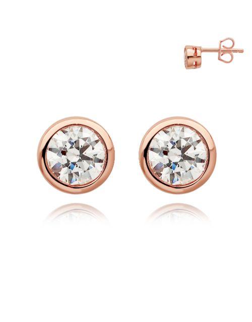 earrings: Silver Rose 925 Tube Cubic Stud Earrings!