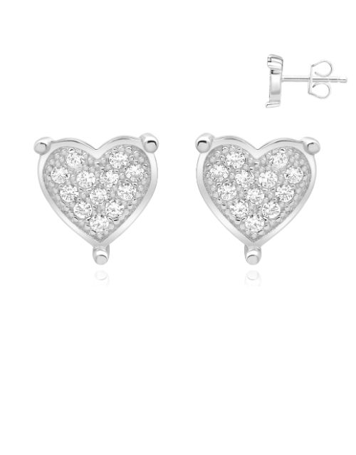earrings: Silver Claw Pave Cubic Zirconia Earring!