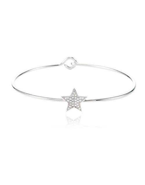 sale: Sterling Silver Star Cubic Bangle!