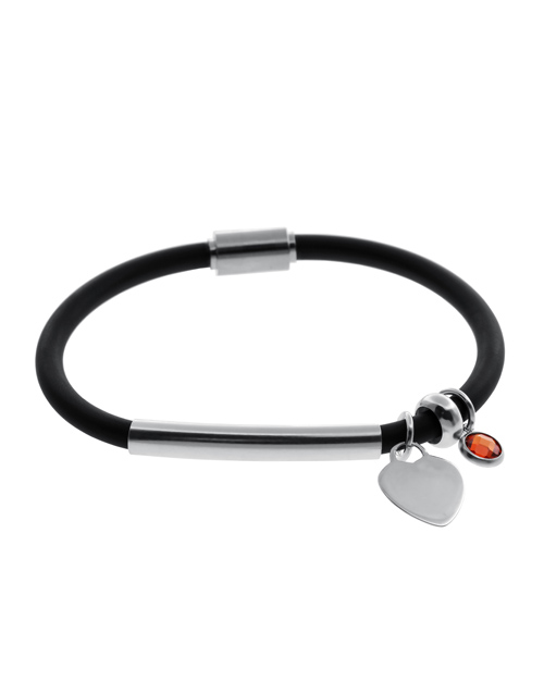 sale: Rubber and 925 Silver ID And Charm Bracelet Sale!