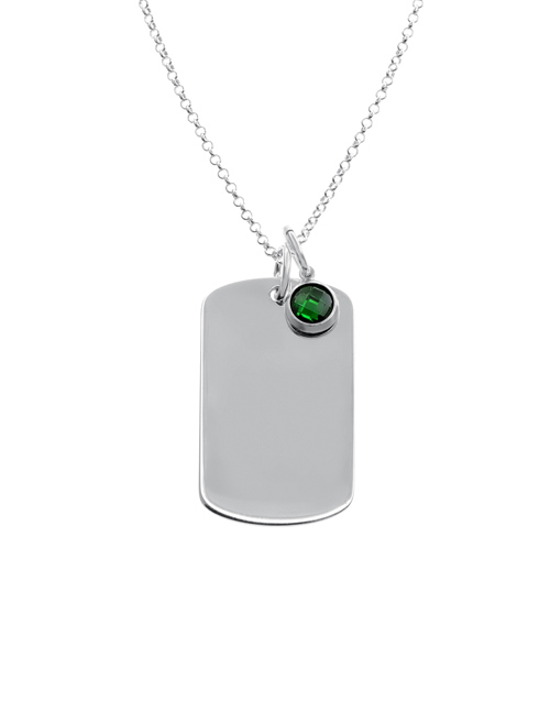 sale: Silver Dog Tag And Charm Necklace!