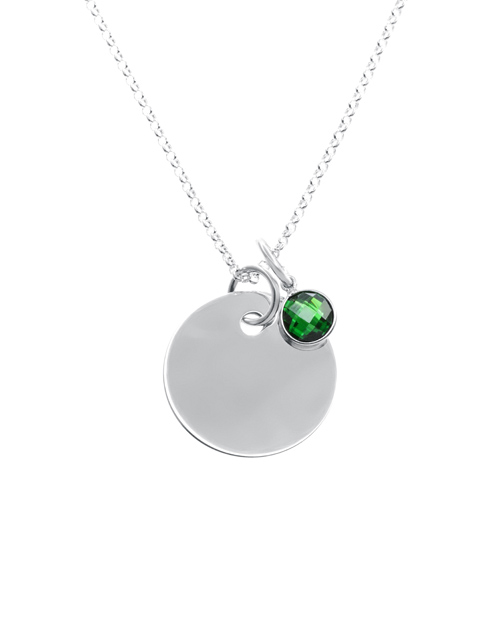 sale: Silver 20mm Round Disc and Charm Personalised !