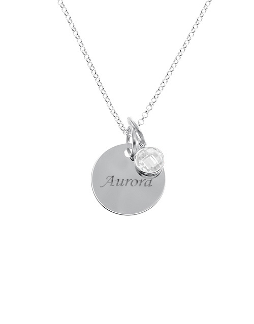 sale: Silver 17mm Round Disc and Charm Personalised !