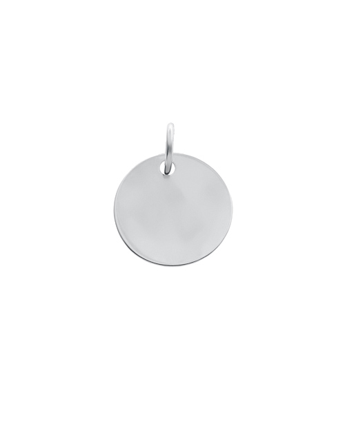 sale: Silver 17mm Round Disc Personalised Necklace!