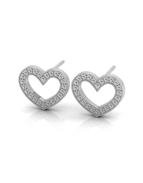 earrings: WHY Sterling Silver Diamond Heart Earrings!