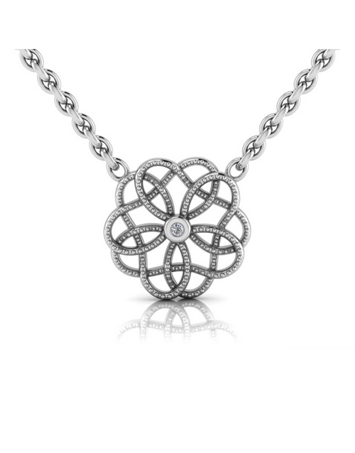 necklaces: WHY Sterling Silver Diamond Floral Necklace!