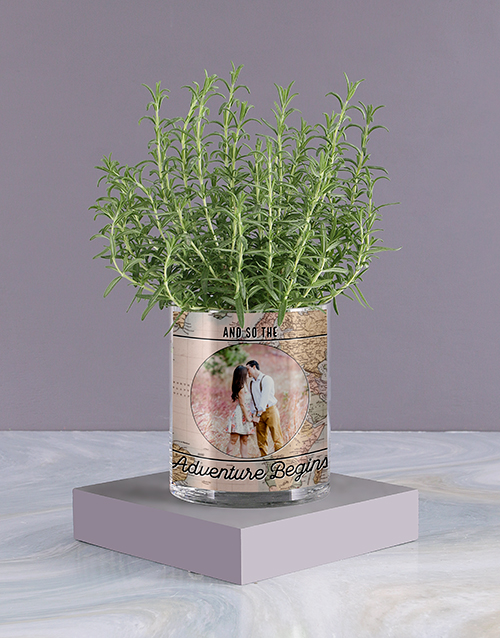 herbs: Personalised Rosemary Vase!