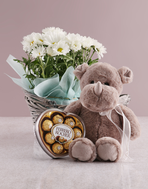 birthday: Wondrous Chrysanthemum Basket!
