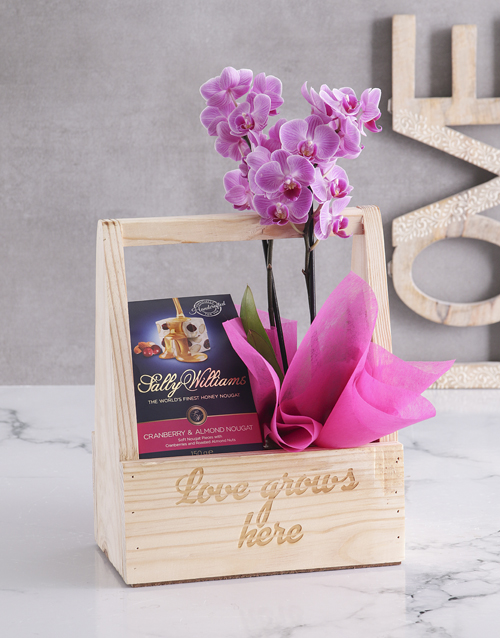 teachers-day: Love Grows Here Orchid Crate!