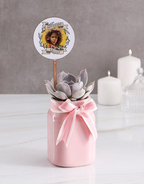 personalised: Personalised Birthday Succulent In Jar!